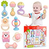 Berry President(TM) 8 Piece Baby Rattle and Teether Toy Play Set