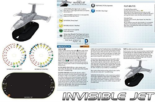 Heroclix Batman set Wonder Woman's Invisible Jet #V003 Super Booster Vehicle With Ability Card