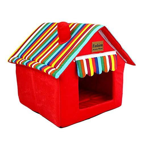 DENTRUN Dog Pet Kitty House Bed Dog Cat Sofa,Memory Foam Cotton Pet Dog Puppy Warm Bed Nest Bed House Pad Puppy Mat