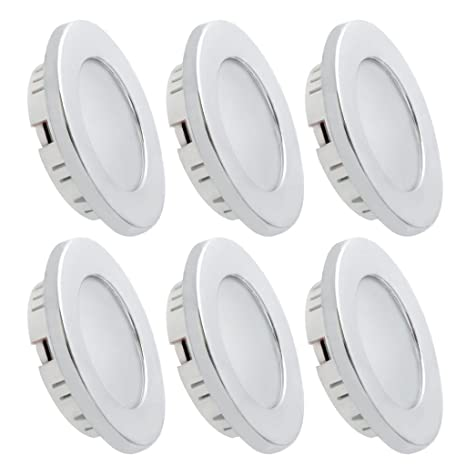 best website 684b5 01f94 Dream Lighting LED Recessed Ceiling Light Cool White Silver Pack of 6