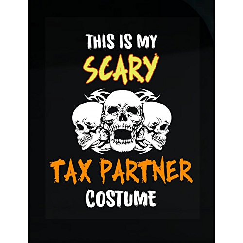 Inked Creatively This is My Scary Tax Partner Costume Sticker