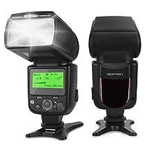 APEMAN Flash Speedlite per Canon, Nikon, supporta modalità M/MULTI/S1/S2. Display LCD, Flash portatile multi-funzione, sacca di trasporto, Compatibile con fotocamere DSLR Sony, Panasonic, Pentax, Olympus