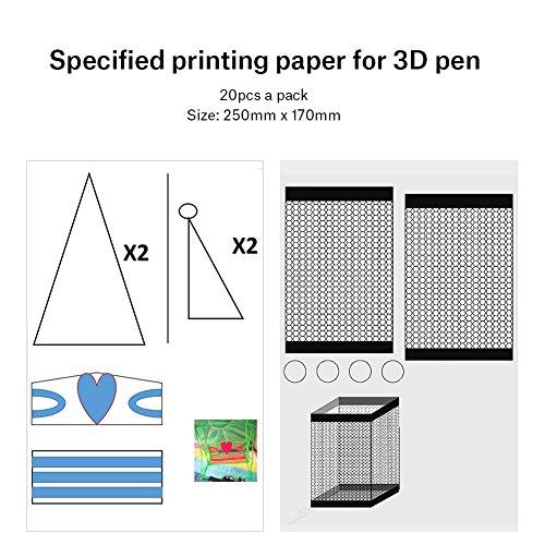 3D Printer Drawing Paper, 20pcs 40 Cartoon Patterns Printing