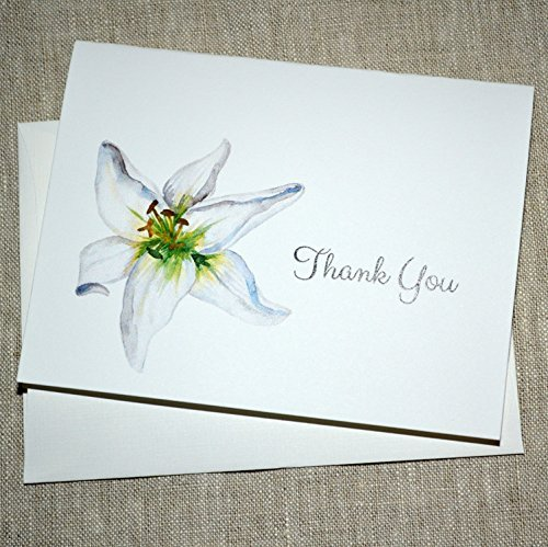 Card Lily Sympathy (Thank You for Your Kindness and Support (Lily)- set of 10 cards)