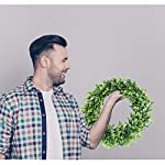 BOMAROLAN-Artificial-Green-Leaves-Wreath-15-Inch-Boxwood-Eucalyptus-Wreaths-Bodhi-Summer-Fall-Large-Wreaths-Springtime-A-Flower-for-Outdoor-Front-Door-Indoor-Wall-Or-Window-Dcor