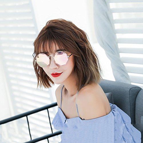 Ladies Face Corea de de Star Nueva personalidad Round Glasses retro redonda 2018 sol señoras Gafas HL Tide Gafas ATwqPTRO