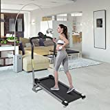 Belovedkai Treadmill Portable Folding Health Fitness Exercise Home Gym Manual, LED Display Calories Time Speed Distance Running Machine.