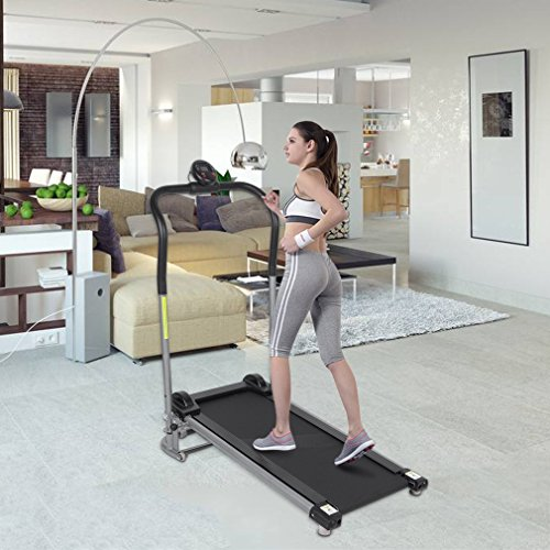 Belovedkai Treadmill Portable Folding Health Fitness Exercise Home Gym Manual, LED Display Calories Time Speed Distance Running Machine. by Belovedkai