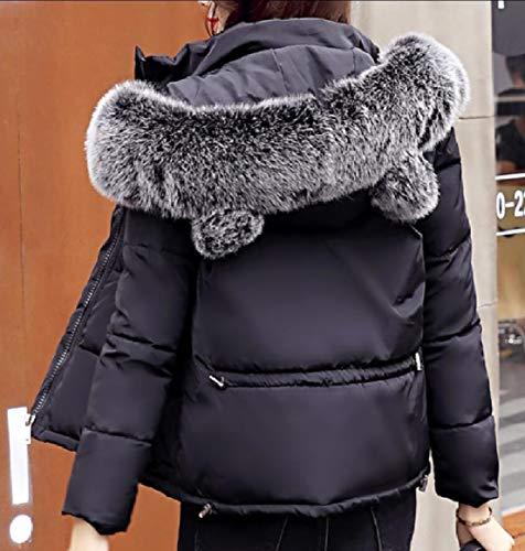 Jacket Down Hooded Black Women's Short security Outwear Lightweight Puffer Coats fqP6wqaIzx