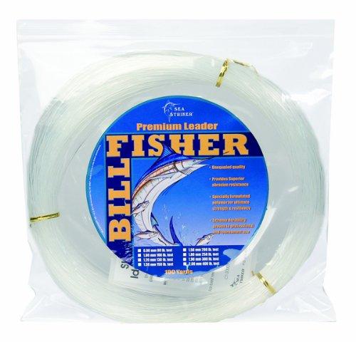 Billfisher Mono Leader Coil, 150-Pound 100-Yard, Clear, 1.3-Millimeter