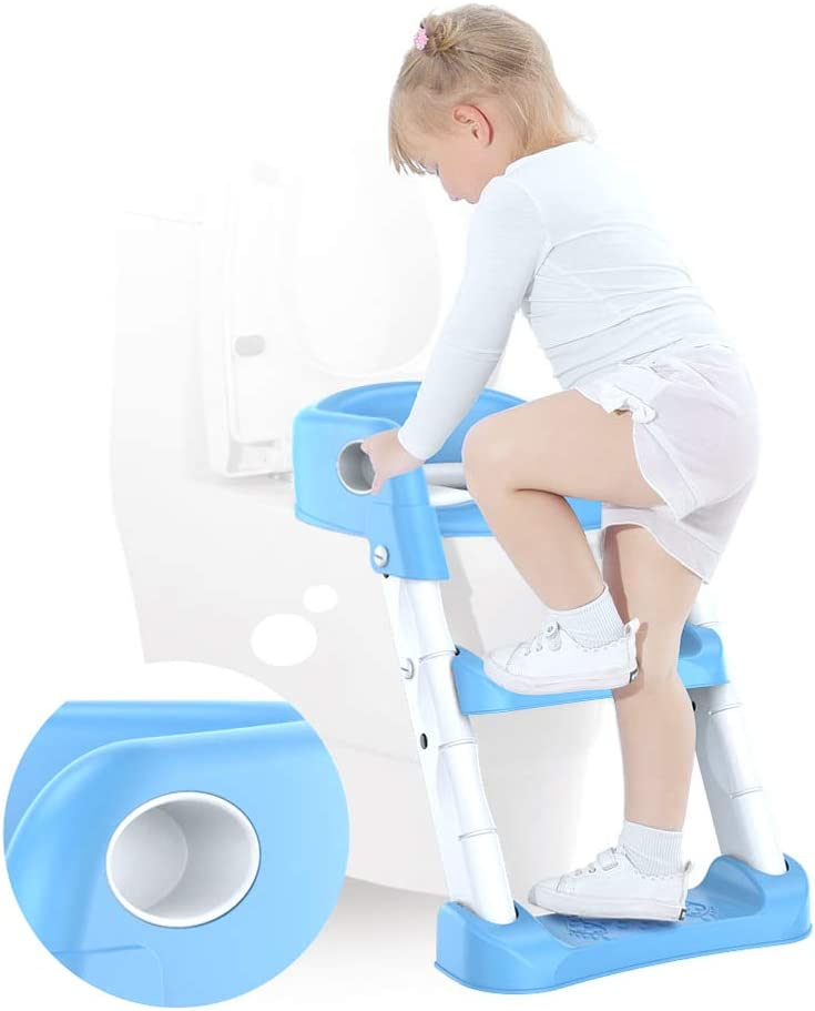 Childrens Toilet Step Ladder Toilet Potty Trainer Seat Ladder Adjustable Training Chair for Girls and Boys Veronivan Toddler Child Potty Training