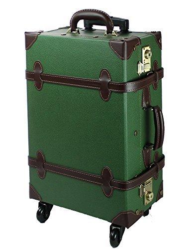 【MOIERG】キャリーバッグ キャリーケース スーツケース Mサイズ 修学旅行 3年保証 軽量 TSA  グリーン B00U9Z3P2Q