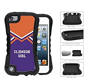 Clemson City Girl School Spirit Cheerleading Uniform For SamSung Galaxy S4 Case Cover 2-piece Dual Layer High Impact Black Silicone Cover