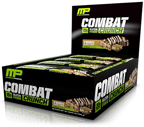 Price comparison product image MusclePharm Combat Crunch Protein Bar,  S'Mores,  12 Bars