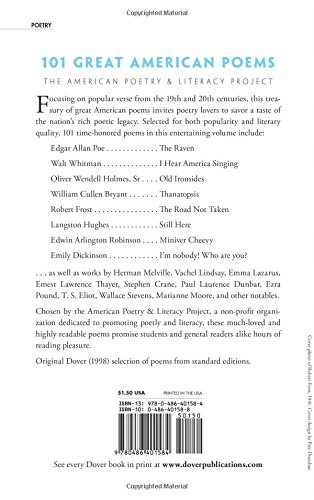 101 Great American Poems (Dover Thrift Editions): The American ...