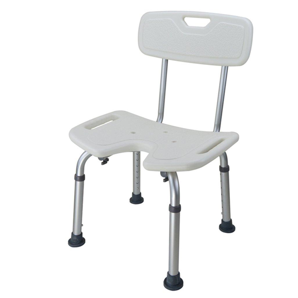 【お気に入り】 シャワー/バススツールアルミ合金シャワー座席椅子障害救助カーテンシートシャワーの椅子背もたれを持つ高齢者/障害者 136kg/妊娠中の女性のための7つの高さで調整可能な椅子ホワイトヘビーデューティMaxの背もたれとハンドルバスベンチ。 136kg B07F326ZD5 B07F326ZD5, おしゃれな家具日用雑貨のlumos:94859516 --- gfarquitetura.com