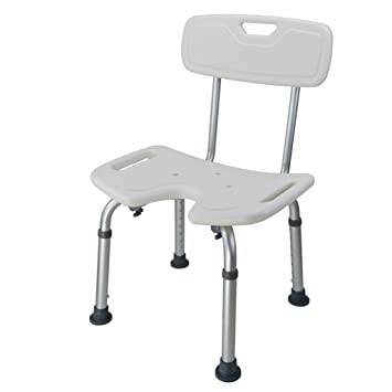 dusche badhocker aluminiumlegierung duschsitz stuhl behindertengerecht gebogener sitz duschstuhl verstellbar in 7 hhe fr ltere - Sitz Stuhl Fur Dusche