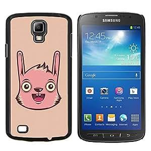Caucho caso de Shell duro de la cubierta de accesorios de protección BY RAYDREAMMM - Samsung Galaxy S4 Active i9295 - Conejo de conejito rosado Animal Dibujo Arte de la historieta