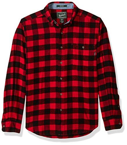 Woolrich Men's Trout Run Flannel Shirt, Old Red Buffalo, Medium