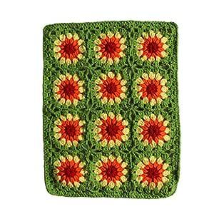 Mano tejida Fancy de flores Cuadrado de alfombras Schöne ...