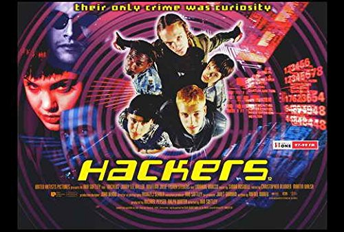 Hackers Movie Poster, Angelina Jolie, Felicity Huffman, B, Made In The U.S.A