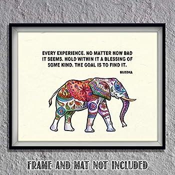 Uhomate Colorful Baby Elephant African Elephants Print Nursery Wall Decor C065