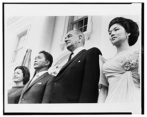 HistoricalFindings Photo: President,Mrs. Lyndon Johnson,President,Mrs. Ferdinand Marcos at The White House