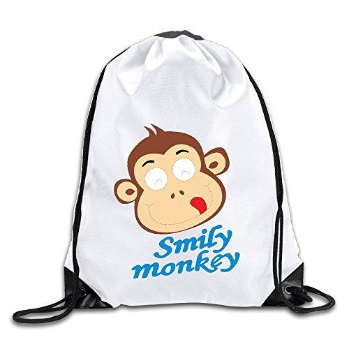 show-time-smily-monkey-backpack-gymsack-drawstring-shoulder-bags
