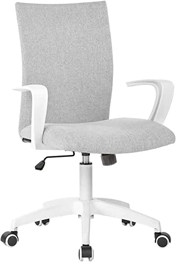 Office Chair Ergonomic Mid Back Swivel Chair Height Adjustable Lumbar Support Computer Desk Chair