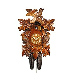 Cuckoo Clock Seven Leaves, three Birds