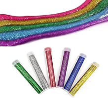 Charms Slime Beads waroomss 52/Pack Kit Slime Fournitures Kit Les herramientas visque la Polvo de oro el papel de caramelos Les perlas planas incluido la bola de espuma color/ée Slime Supplies Kit