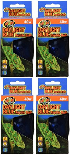 (4 Pack) Zoo Med Daylight Blue Incandescent Reptile Bulb 40 (Blue Zoo)