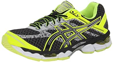 ASICS Men's Gel-Cumulus 15 Lite-Show Running Shoe,Black/Onyx/Flash Yellow,13 M US