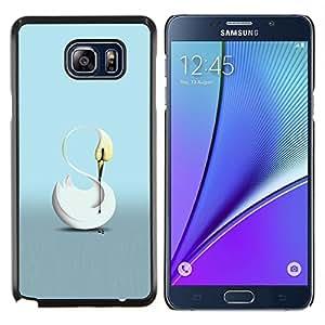 """Be-Star Único Patrón Plástico Duro Fundas Cover Cubre Hard Case Cover Para Samsung Galaxy Note5 / N920 ( El Cisne"""" )"""