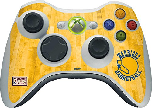 NBA Golden State Warriors Xbox 360 Wireless Controller Skin - Golden State Warriors Hardwood Classics Vinyl Decal Skin For Your Xbox 360 Wireless Controller by Skinit