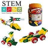 UC Blocks 195 Piece Interlocking Plastic Building Block Set Educational Toy Engineering Toy