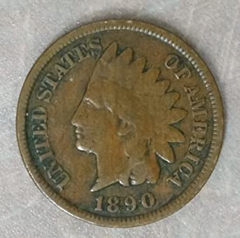 278fdde4c2246 1890 US Indian Head Cent / Penny