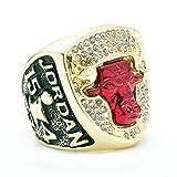 WIBBLY Titanium Steel Bulls 1993 Year Men's Championship Rings,Size 11