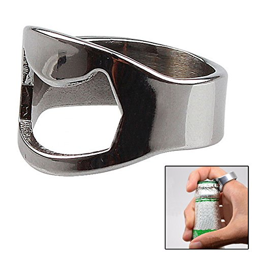 SUIE Stainless Steel Finger Ring Bottle Opener Beer Bar Party Tool