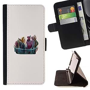 Momo Phone Case / Flip Funda de Cuero Case Cover - Hombre Fontana Arte Pintura Naturaleza colorida - HTC Desire 820