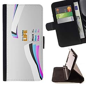 BullDog Case - FOR/Sony Xperia m55w Z3 Compact Mini / - / Life /- Monedero de cuero de la PU Llevar cubierta de la caja con el ID Credit Card Slots Flip funda de cuer