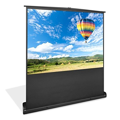 Pyle PRJSF1009 100-Inch Floor Standing Portable Easy Roll-Up Pull-Out Projection Screen Matte White ()