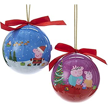 Kurt Adler 80 MM 2 Assorted Blue And Purple Peppa Pig Daddy And George  Decoupage Christmas - Amazon.com: Kurt Adler 80 MM 2 Assorted Blue And Purple Peppa Pig