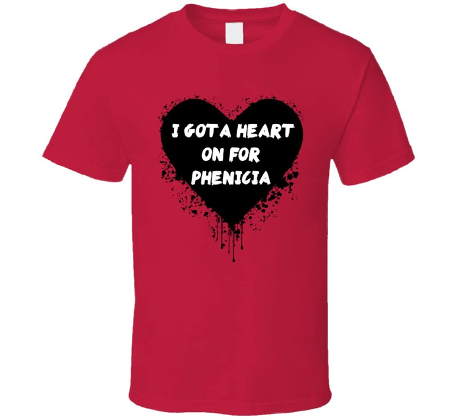 Heart on for Phenicia Simple Plan Inspired Valentines T Shirt