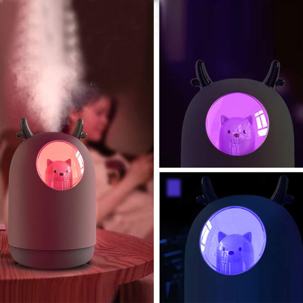 Humidificateur Ultrasonique Silencieux 10 Heures Temps de Fonctionnement Essentielle pour Maison//Bureau//Chambre de B/éb/é,Pink LQ/&XL 300ML Humidificateur dair b/éb/é
