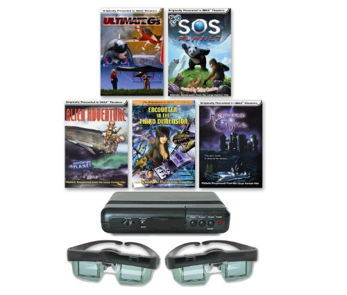 IMAX 3D Collection for Your Standard CRT TV (Includes Deluxe 3D Viewer and Wireless 3D Shutter Glasses!)