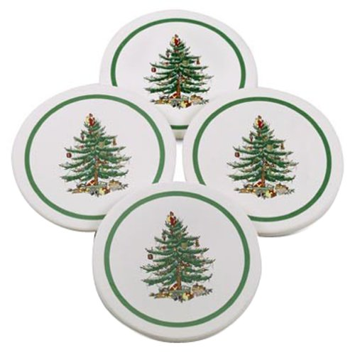 (Spode Christmas Tree Thirsty Coasters, Set of)