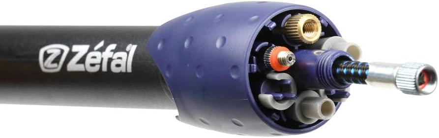 Zefal Max Multi-Purpose Mini Pump Bike Bicycle Blue//Black