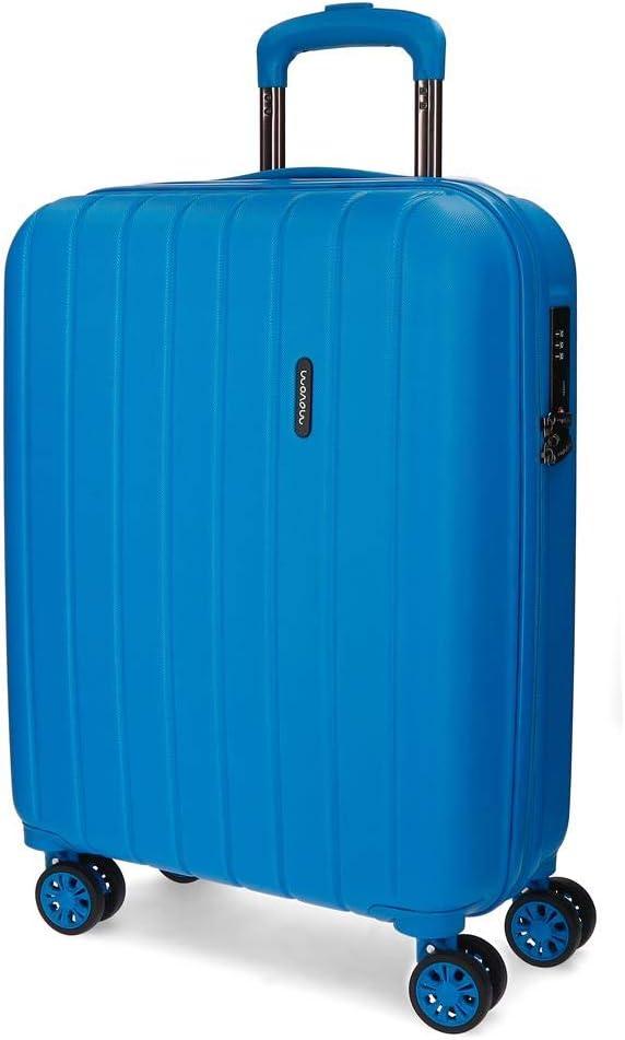 Maleta de cabina extensible rígida 55cm Movom Wood Azul
