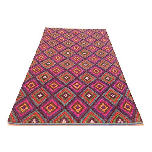 Pink Vintage Turkish Kilim Rug